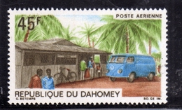 BENIN DAHOMEY 1968 UPU MAIL TRUCK STOPPING AT RURAL POST OFFICE 45f MNH - Benin – Dahomey (1960-...)