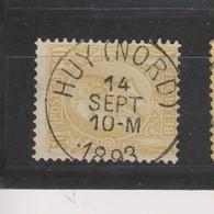 COB 50 Oblitération Centrale HUY (Nord) Superbe - 1884-1891 Léopold II