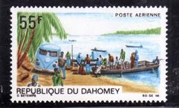 BENIN DAHOMEY 1968 UPU MAIL TRUCK RIVER BANK 55f MNH - Benin – Dahomey (1960-...)