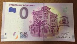 CATHÉDRALE DE MONACO BILLET 0 ZERO  EURO SOUVENIR 2019 BANKNOTE BANK NOTE 0 ZERO EURO SCHEIN PAPER MONEY - Other