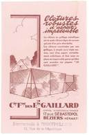 Buvard Piquets Le Gaillard, Béziers, Hérault ( Tampon Succursale à Montpellier ) - Other