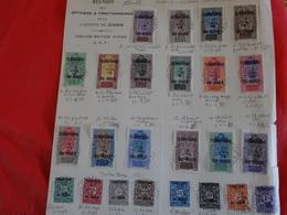 AOF Territoire Du Niger - 16 Timbres Oblitérés 1921-1922 Et 8 Timbres Taxes 1921 Oblitérés (via La Garnison De Zinder) - Francia (vecchie Colonie E Protettorati)