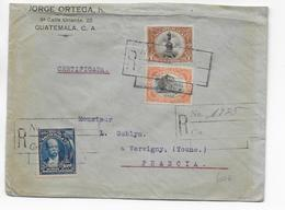 1919 - GUATEMALA - ENVELOPPE RECOMMANDEE  => VERGIGNY (YONNE) - Guatemala