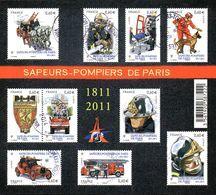 France Oblitération Cachet à Date BF N° F 4582 ** Métier - Brigade Des Sapeurs-pompiers - Blocks & Kleinbögen