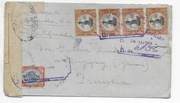 1918 - GUATEMALA - ENVELOPPE RECOMMANDEE Avec CENSURE => VERGIGNY (YONNE) - Guatemala