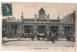 Cpa B87 VINCENNES La Gare-attelage-animée-horloge - Vincennes