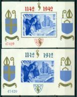 PR. Blocs ORVAL 11 Et 12 ** Surchargés. 47420. 1942. - Blocks & Sheetlets 1924-1960