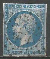FRANCE - Oblitération Petits Chiffres LP 1224 EU (Seine-Maritime) - Marcophilie (Timbres Détachés)