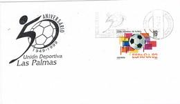 33588. Carta LAS PALMAS De GRAN CANARIA (Canarias) 1999. Futbol, 50 Aniversario U.D. Las Palmas - 1931-Hoy: 2ª República - ... Juan Carlos I