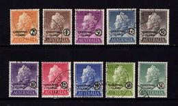 CHRISTMAS  ISLAND   1958    Queen  Elizabeth II    Set  Of  10       USED - Christmas Island
