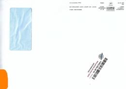Affranchigo 84 Gr Lettre Recommandée R1 AR Carcassonne Ppdc Gay Lussac Aude - Marcofilie (Brieven)