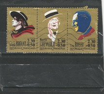 France Oblitéré  1990   N°  2649/4651  Chanteurs.  Aristide Bruant, Maurice Chevalier, Tino Rossi - Used Stamps