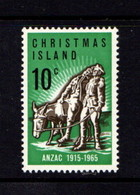 CHRISTMAS  ISLAND   1965    50th  Anniv  Of  Gallipoli  Landing       MNH - Christmas Island