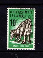 CHRISTMAS  ISLAND   1965    50th  Anniv  Of  Gallipoli  Landing       USED - Christmas Island