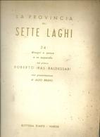 VARESE--LA PROVINCIA  DEI  7  LAGHI  24 DISEGNI ROBERTO  IRAS  BALDESSARI CON ALDO  BRUNO - Old Books