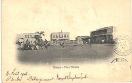 DJIBOUTI .... PLACE MENELIK - Gibuti