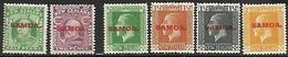Samoa 1914-9   Sc#114, 116, 127-30 MH  2016 Scott Value $6.80 - Samoa