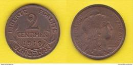 Francia 2 Centimes 1919 - Francia