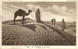 """4989"""" LIBIA-LA CAROVANA E' IN VISTA""""ANIMATA-CART. POST. ORIG. SPED.1940 VERIFICATO PER CENSURA - Libia"""