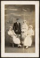 Cabinet Card / Photo De Cabinet / Kabinet Foto / Famille / Family / Seaside / Canotier - Ancianas (antes De 1900)