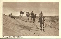 """4990"""" PAESAGGI DELLA TRIPOLITANIA""""ANIMATA-CART. POST. ORIG. SPED.1940 MAGAZZINO CENTRALE MILITARE DI TORINO - Libia"""