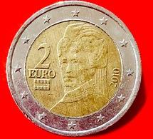 AUSTRIA - 2010 - Moneta - Bertha Von Suttner, Pacifista - Ritratto - Euro - 2.00 - Austria