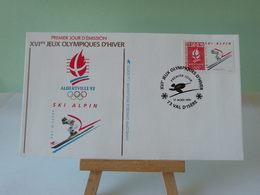 Jeux Olympiques 1992 (Ski Alpin) 73 Val D'Isère 17.8.1991 FDC 1er Jour(Toutes Très Bon état Garantie)Coté 3€ - FDC
