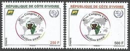 Cote D'Ivoire Ivory Coast 2018 UPU Congres Elephant Set Mint UMH - Elefanti