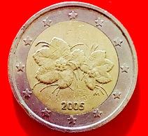 FINLANDIA - 2005 - Moneta - Bacca Del Lampone Artico Rubus Camemorus, Con I Suoi Fiori - Euro - 2.00 - Finlandia