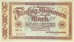 50 Mio Deutsche Reichsbahn UNC (I) - [ 3] 1918-1933: Weimarrepubliek
