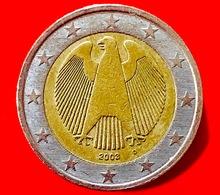 GERMANIA - 2003 - Moneta - Rappresenta Un'aquila, Simbolo Della Sovranità Tedesca - (Karlsruhe) - Euro - 2.00 - Germania