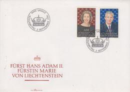 Liechtenstein 1991 Fürst Hans Adam II & Fürstin Marie 2v FDC (43873) - FDC