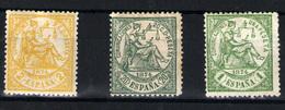 España Nº 143, 146, 150. Año Nº 1874 - 1873-74 Regentschaft