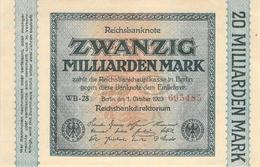 20 Miliarden Deutsche Reichsmark UNC (I) - [ 3] 1918-1933 : República De Weimar