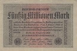 50 Mio Deutsche Reichsmark AU/EF (II) - [ 3] 1918-1933 : Repubblica  Di Weimar