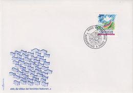 Liechtenstein 1991 UNO 1v FDC (43876) - FDC