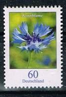 Bund 2019,Michel# 3468 R ** Blumen: Kornblume Mit Nr. Große Rolle - BRD