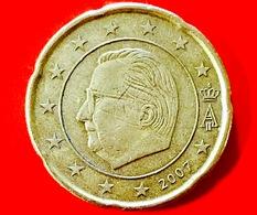 BELGIO - 2007 - Moneta - Re Alberto II - Euro - 0.20 - Belgio