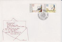 Liechtenstein 1991 Von Loyola & Mozart 2v FDC (43877) - FDC