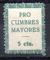Viñeta  Pro Cumbres Mayores - Verschlussmarken Bürgerkrieg
