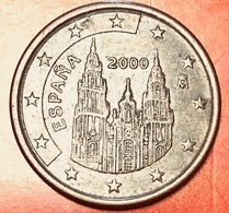 SPAGNA - 2000 - Moneta - Cattedrale Di Santiago De Compostela - Euro - 0.05 - Spagna