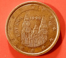 SPAGNA - 1999 - Moneta - Cattedrale Di Santiago De Compostela - Euro - 0.2 - Spagna