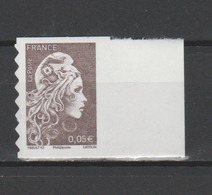 FRANCE / 2018 / Y&T N° AA 1595 ** : Marianne D'YZ (adhésif De Feuille) 0.05 € X 1 BdF D - Frankreich