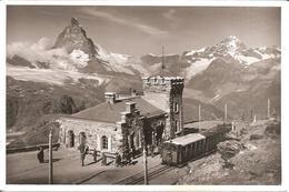 STATION GORNERGRAT (Valais-VS) Matterhorn , Train , Gare - Rare Photo E. GYGER , ADELBODEN - VS Valais