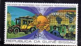 GUINEA GUINEE BISSAU 1974 UPU CENTENARY FRANQUIA 6s MNH - Guinea-Bissau