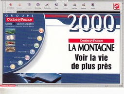 LOT De 10 CALENDRIERS DE POCHE ANNÉE 2000 PETIT FORMAT CENTRE FRANCE LA MONTAGNE JOURNAL QUOTIDIEN - NOTRE SITE Serbon63 - Calendriers