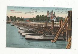 Cp, Allemagne ,  SPEYER ,  Schiffbrücke Mit Dom ,  écrite - Speyer
