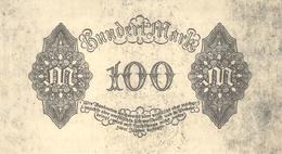 100 Deutsche Reichsmark Fehldruck Ohne Vorderseite UNC (I) - [ 3] 1918-1933 : Repubblica  Di Weimar