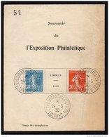 """FRANCE - Rare """"Bloc Strasbourg"""" De Limoges (tirage 60) - Used"""