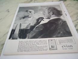 ANCIENNE PUBLICITE L EAU VRAIE EVIAN 1968 - Affiches